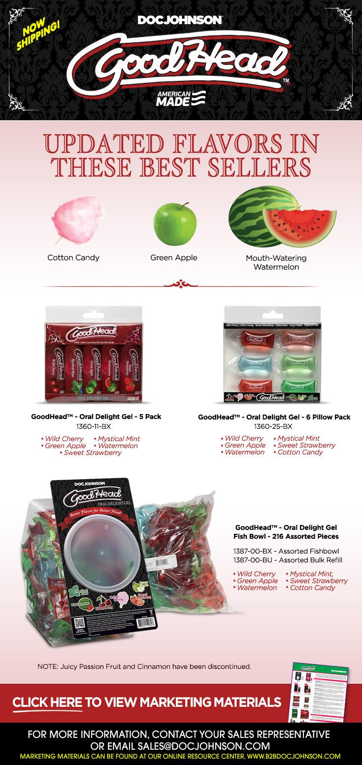 New GoodHead Flavors